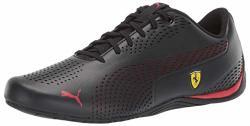 Puma Men's Ferrari Drift Cat 5 Sneaker Black-rosso Cor 4 M Us