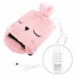 Moko USB Heating Mouse Pad Hand Warmer Heated Mouse Mat With Timing Switch And 4-GEAR Temperature Control Cartoon Cute Plush Detachable And Washable Winter