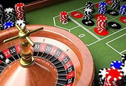 Leyiyi 10X8FT Photography Backdrop Casino Roulette Wheel Background Las Vegas Gambling House Bargaining Chips Luck Entertainment Numbers Games Macao J