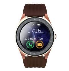 Bluetooth V5 Smart Watch Men - Brown