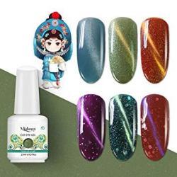 Mobray Cat Eye Uv Gel Nail Polish Set Soak Off Gel Polish Nail Art Gift Box Beauty And Nail Care Products 6 Colors Gel