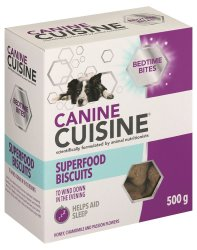 Canine Cuisine - Bedtime Bites Superfood Biscuits - 500G