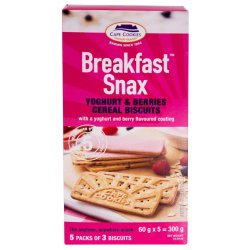 Cape Cookies Breakfast Snax Mixed Berry With Yoghurt Mixed 300 G