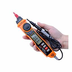 Agfxn - Bar STools Handheld Tester Multi Type With Non Contact Acv dcv Electric Handheld Tester Digital Multimeter With Probe Color : Orange