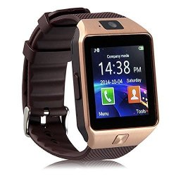 JUNEO Smart Watch With Camera Bluetooth Touch Screen Phone For Iphone Apple Ios Samsung Android Cell Phones With Pedometer Dial Call Message Reminder 4 Colors