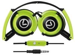 Amplify Symphony Headphones With MIC - Black & Green