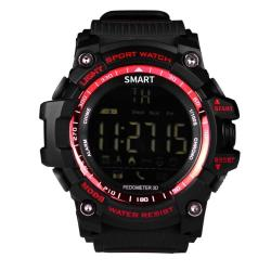 EX16 1.12 Inch Fstn Lcd Full Angle Screen Display Sport Smart Watch IP67 Waterproof Support Pedometer Stopwatch Alarm Notification Remind