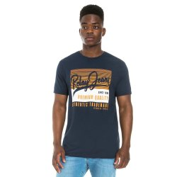 Relay Jeans Rj Textured Sport Graphic T-Shirt Navy
