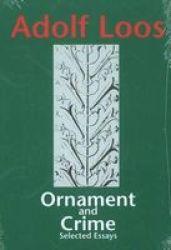 Ornament & Crime - Selected Essays Paperback