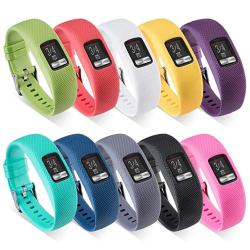 ZSZCXD Garmin Vivofit 4 Band Newest Silicone Replacement Watchband Strap Band Wristband For Garmin Vivofit 4 No Tracker 10PCS Small
