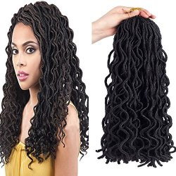 Befunny 20 6packs Lot Goddess Crochet Faux Locs Hair Wavy
