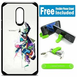 Limited Editions For LG Stylo 3 Stylo 3 Plus LS777 Defender Rugged Hard Cover Case - Joker Colorfuldrawing