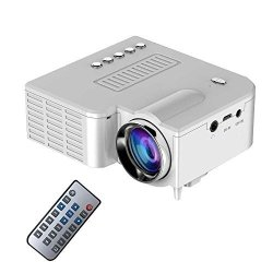 Kobwa Video Projector MINI Portable Projector Support 1080P Multimedia Home Theater Video Projectorconnection With Hdmi av usb sd Devices White