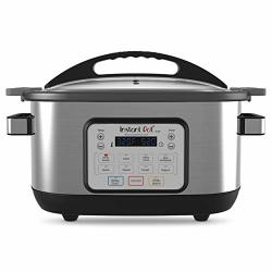 Instant Pot Aura 9-IN-1 Multicooker Slow Cooker Rice Cooker Steamer Saute Yogurt Maker Stew Bake And Warmer 6 Quart 10 One-touch