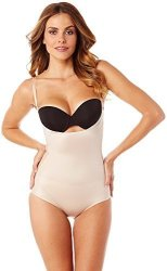 ASSETS Red Hot Label By SPANX Spanx Assets Red Hot Label Luxe & Lean Firm Control Bodysuit M Rose Dust