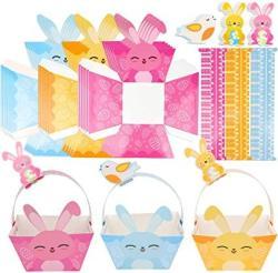 USA KOLEWO4EVER 15 Sets Easter Basket Kits Easter Egg Hunt Basket Cute Easter Diy Crafts For Kids To Assemble Decorate And Use For Easter Egg Hunting