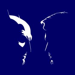 Batman Vs Superman Silhouette White