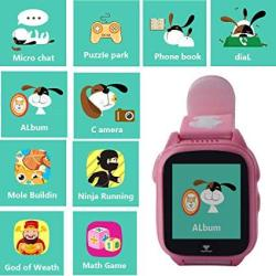 Gps Tracker Watch For Children Hangang Kids Smartwatch With Gps+lbs IP68 Waterproof Watch With 9 Games For Boys And Girls Birthd