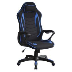 Valencia Office & Gaming Chair - Black & Blue