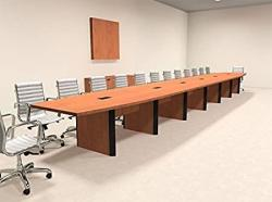 Modern Boat Shaped 28' Feet Conference Table OF-CON-CP46