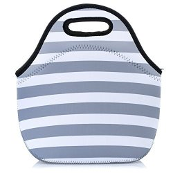 Neoprene Lunch Bag Eco Friendly Tote For Women And S Waterproof Insulated Travel Cooler Box Gray White St R2140 00 Home