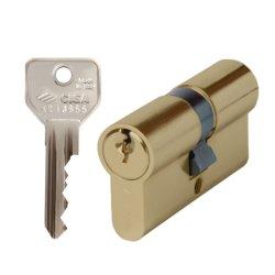 Cisa C2000 Euro Double Cylinder 33 33 Brass