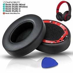 Professional Beats Studio Replacement Earpads Cushion By Solowit- Compatible With Beats Studio 2.0 & 3 Wired wireless With Soft