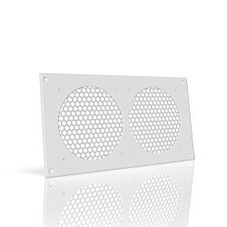 "AC Infinity White Ventilation Grille 12"" For PC Computer Av Electronic Cabinets Replacement Grill For Airplate S7 T7"