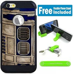 Limited Editions Apple Ipod Touch 5 6 5TH 6TH Generation Hybrid Armor Defender Case Cover With Flexible Phone Stand - Star Wars Vint Robot