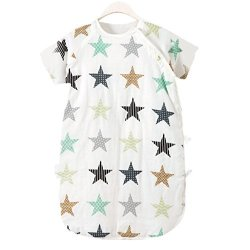 Cyuuro Baby Sleep Sack Cotton Short Sleeves Toddler Wearable Blanket XL