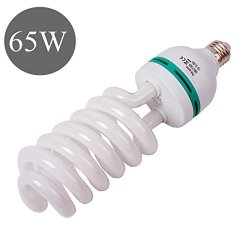 I Graphy 65W Photography Compact Fluorescent Cfl Daylight Balanced Bulb With 5500K Color Temperature For Video Stu