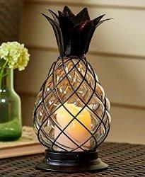 LTD Glass Pineapple LED Hurricane Lantern