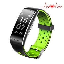 Huangcaho Inc Fitness Tracker Smart Watch 4 Sports Mode Heart Rate Monitor IP67 Waterproof Activity Health Tracker Sleep & Blood Pressure Sleep Mon