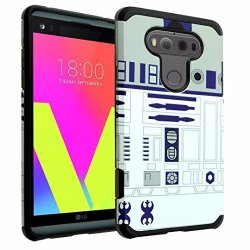 Durarmor LG V20 Case LG V20 Armor Case With Resilient Shock Absorption And  Star Wars R2D2 Design Hybrid Case Cover For LG V20 2016 | R | Cellphone