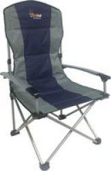 AfriTrail Hartbeest Highback Aluminium Armrest Folding Chair