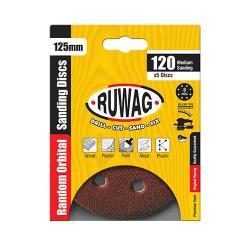 RUWAG P60 Random Orbital Sanding Disk 125MM 5 Pack