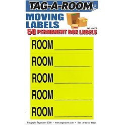 Tag-A-Room Color Coded Home Moving Box Labels Room Blank Yellow