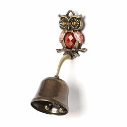 Anahbell Shopkeepers Door Bell Store Entry Door Chime Home Decoration - Owl Spring Bell Brown