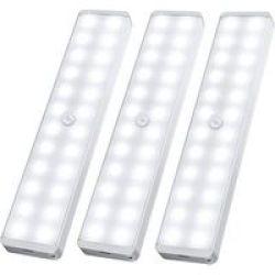 Lumina 30 LED Rechargeable Motion Sensor Lights 3 Pack