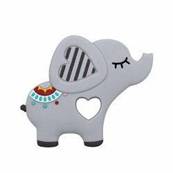 Hourui Elephent Baby Teether Silicone Soother Pacifier Bpa-free Natural Organic Boy Girl Teether Chewable Teething Toy Pendant For Babies Gray