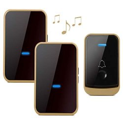 Wireless Doorbell With 2 Receivers-easy Install Over 1000-FEET Range Feet With 45 Melodies 4 Volume Levels & LED Flash