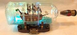 Brick Loot Ship In A Bottle Lighting Kit For Your Lego Set 21313 Lego Set Not Included