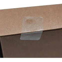 """Hybsk 1""""X 2"""" Rectangle Square Crystal Clear Retail Package Seals Circle Wafer Stickers Transparent Labels 500 Per Roll"""