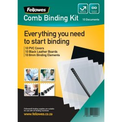 Fellowes - Comb Binding Starter Kit - 10 Documents