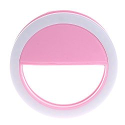 Kocome Selfie Portable LED Ring Fill Light Camera Photography Android Phone For Iphone Pink