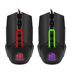 3200DPI RGB Light 6 Buttons USB Wired Pro Mouse Lefthigh Rainbow Backlit Gaming Mouse