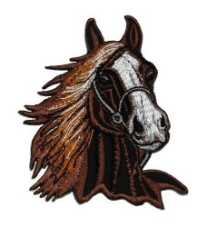 PA International Trading Co.,Ltd Brown Horse Racehorse Diy Applique Embroidered Sew Iron On Patch HOR-002
