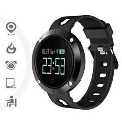 Tkstar-sports Fitness Tracker Touch Screen Watch Waterproof 25 Days Standby Alarm Bluetooth Heart Rate Monitor Call Reminder Smart Watch JU-DM58 Bla