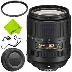 Nikon Af-s Dx Nikkor 18-300MM F 3.5-6.3G Ed VR Lens Base Bundle