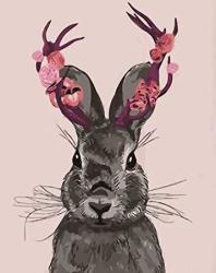USA Diy 5D Diamond Painting Kit For Adults Children Nyebs 5D Diy Diamond Painting Full Round Drill Animal Gray Rabbit Rhinestone Embroidery For Wall Deco